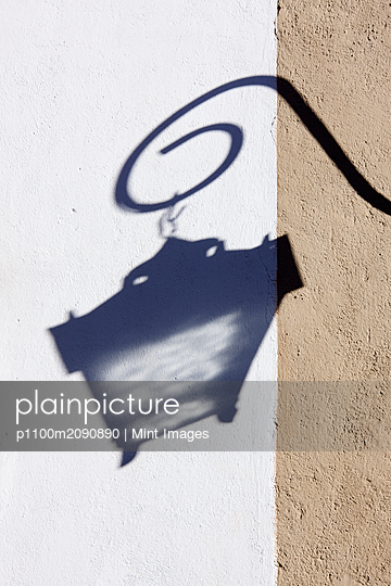 Shadow of Street Lamp - p1100m2090890 by Mint Images