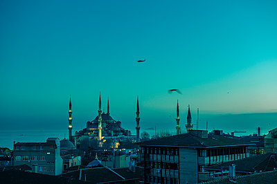 Turkey, Istanbul, Blue mosque - p1085m2192231 by David Carreno Hansen