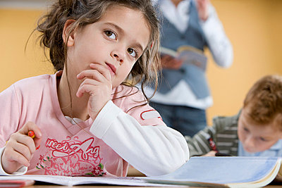 Girl in class - p9248716f by Image Source