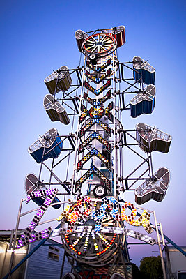 The Zipper Amusement Park Ride At The Morden Corn & Apple Festival; Morden, Manitoba, Canada - p442m839415 by Ken Gillespie