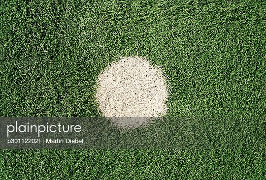 White dot on sports field