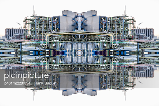 Abstract kaleidoscope of a chemical industrial plant - p401m2228394 by Frank Baquet