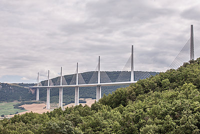 The Millau Viaduct - p1402m2005788 by Jerome Paressant