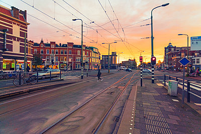 City center at sunset, Netherlands - p300m2132514 by A. Tamboly