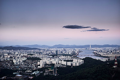 View over Seoul - p1492m2178698 by Leopold Fiala