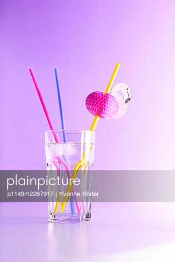 Flamingo straw - p1149m2287917 by Yvonne Röder