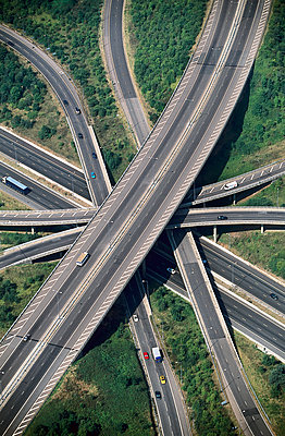 Motorway intersection - p1048m992609 by Mark Wagner