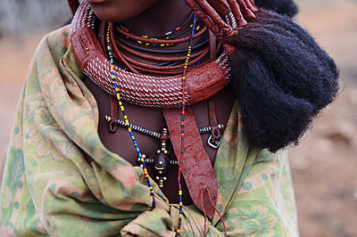 Africa, Namibia, Woman in traditional clothing - p1167m2272270 by Maria Schiffer