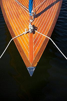 Stem of an old sailing-boat Gotland Sweden - p31223012f by Johan Odmann