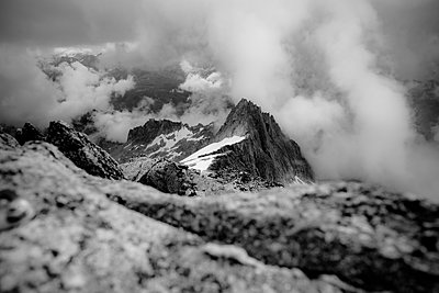 Mountain scenery, clouds at Galenstock mountain, Western Alps - p741m2254123 by Christof Mattes