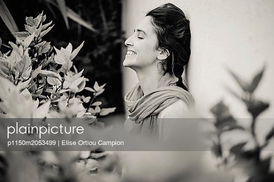 Portrait of Algerian woman - p1150m2053499 by Elise Ortiou Campion