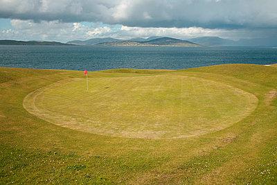 Hebrides golf - p1072m957255 by Michael Steel