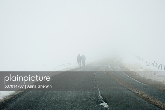 Two figures in whiteout - p37814737 by Anna Sherwin