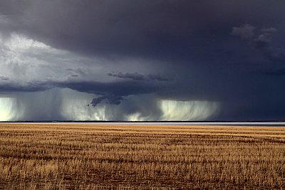 Storm over Farmland and Yarra Yarra Lake - p979m909958 von Mayall