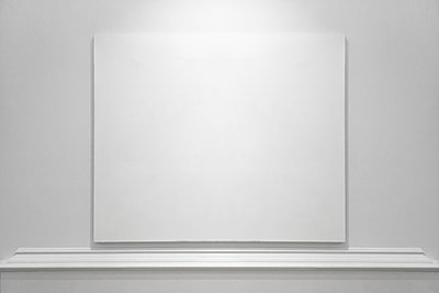white canvas on white wall - p1280m2073107 by Dave Wall