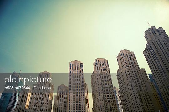 View of skyscrapers - p528m672644 by Dan Lepp