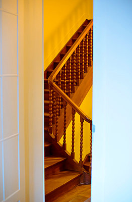 Wooden stairs - p432m815795 by mia takahara