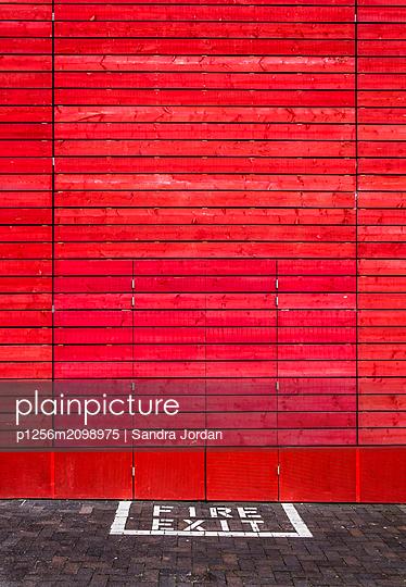 Fire Exit - p1256m2098975 by Sandra Jordan