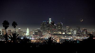 Downtown L.A. - p1553m2133382 von matthieu grospiron