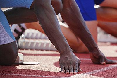 Runners at Starting Line  - p3071297f by Akihiro Sugimito