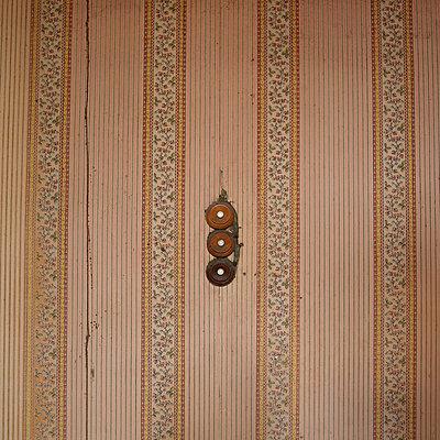Old Light switch on wallpaper - p813m900257 by B.Jaubert