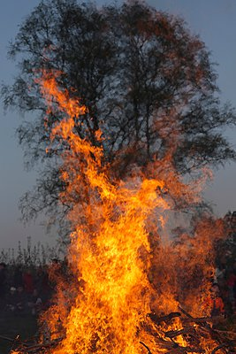 Easter bonfire - p1016m907548 by Jochen Knobloch