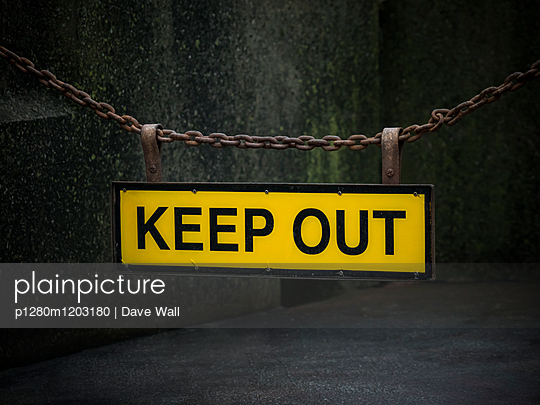 Keep Out sign  - p1280m1203180 by Dave Wall
