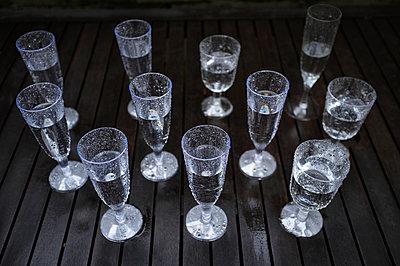 Water in plastic glasses - p1125m952125 by jonlove