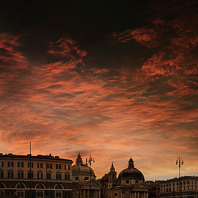 Res sunset in Rome - p1038m959053 by BlueHouseProject