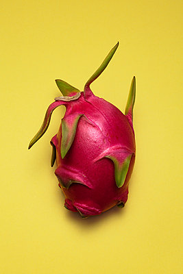 Dragon Fruit on Yellow Background - p694m2031442 by Novo Images