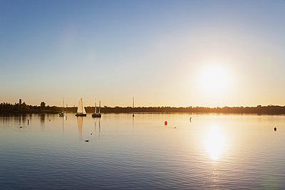 Germany, Saxony, Leipzig, Lake Cospuden at sunset - p300m2080307 by Gaby Wojciech