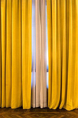 Yellow curtains - p1170m1125322 by Bjanka Kadic