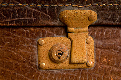 Detail of an old suitcase - p4510949 by Anja Weber-Decker
