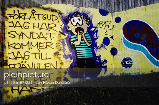 Wandbild in Stockholm - p1418m1571221 von Jan Håkan Dahlström
