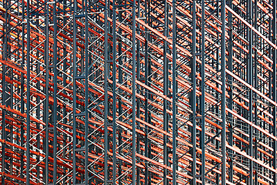 Constructing high rack storehouse - p719m1333192 by Rudi Sebastian