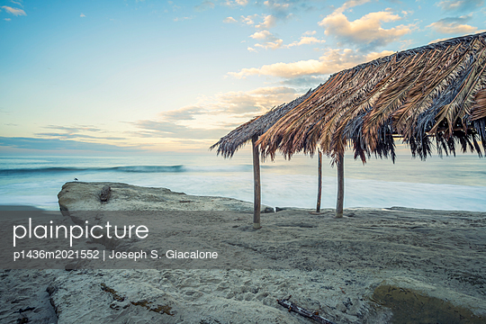 Surf Shack at Windansea Beach - p1436m2021552 by Joseph S. Giacalone