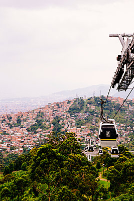 Cable car in Medellin - p1177m2111158 by Philip Frowein