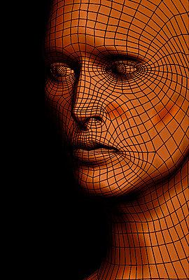 Cyber head - p1028m2076732 by Jean Marmeisse