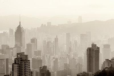 Hong Kong Skyline Number 2 - p1154m2022455 by Tom Hogan