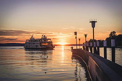 Germany, Meersburg, Ferry between Constance and Meersburg - p300m1101039f by Kerstin Bittner