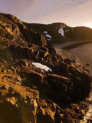Rocky coast, Barents Sea, Teriberka, Kolsky District, Murmansk, Russia - p1108m2193240 by trubavin