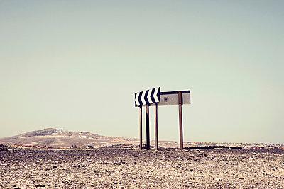 Wegweiser auf Fuerteventura, Casas de las Salinas - p1162m952162 von Ralf Wilken