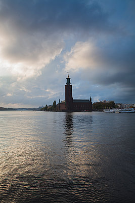 City Hall in Stockholm, Sweden - p352m1536570 by Calle Artmark