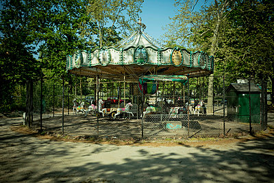 Closed carousel  - p445m2177802 by Marie Docher