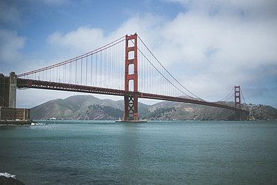Foggy Bridge - p1290m1152489 by Fabien Courtitarat