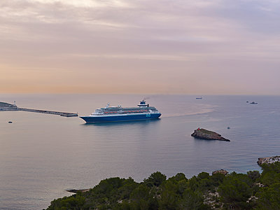 Cruise ship around Ibiza - p885m1221918 by Oliver Brenneisen
