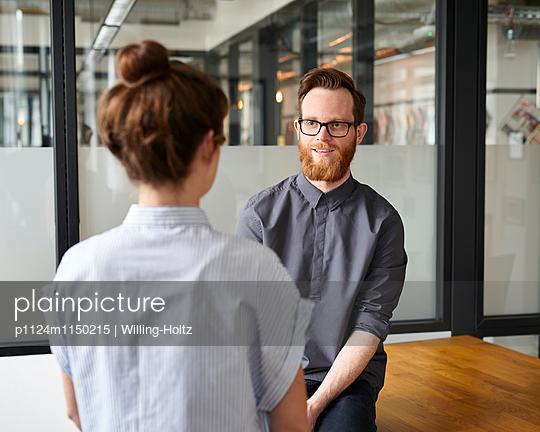Besprechung im Startup - p1124m1150215 von Willing-Holtz