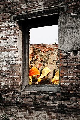 Ayutthaya; Wat Phra; Thailand - p1038m769498 von BlueHouseProject