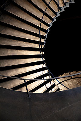 Spiral staircase at twilight - p1248m2172170 by miguel sobreira