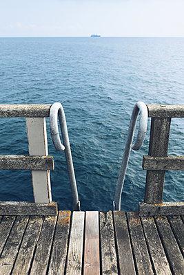 Steg mit Badeleiter - p1006m1425250 von Danel
